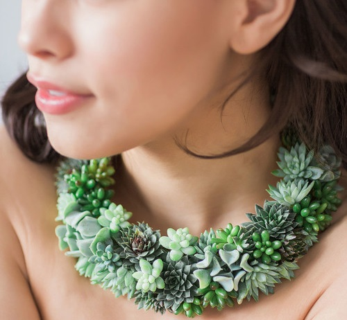 living plant necklace PassionFlower Susan McLeary
