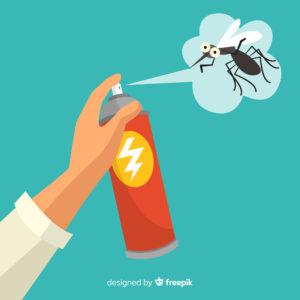 mano con bomboletta spray antizanzare