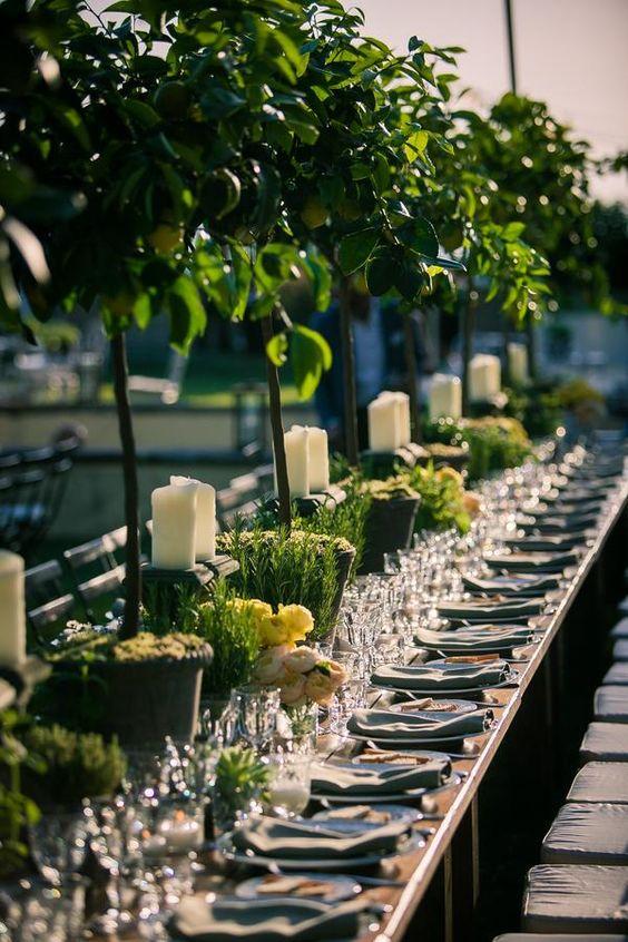 allestimento floreale matrimonio con erbe aromatiche
