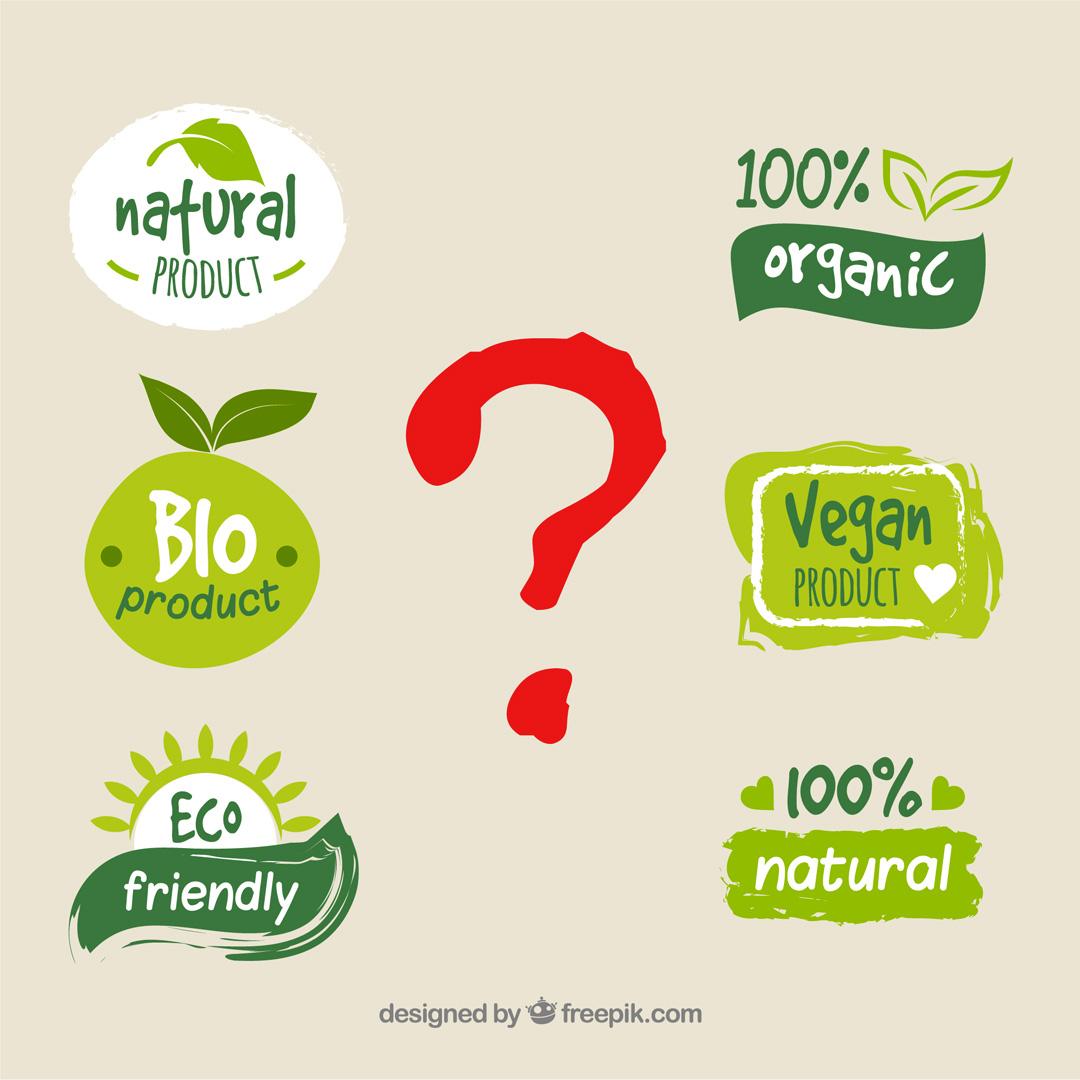 differenze tra le sigle eco-biologico bio natural organic vegan