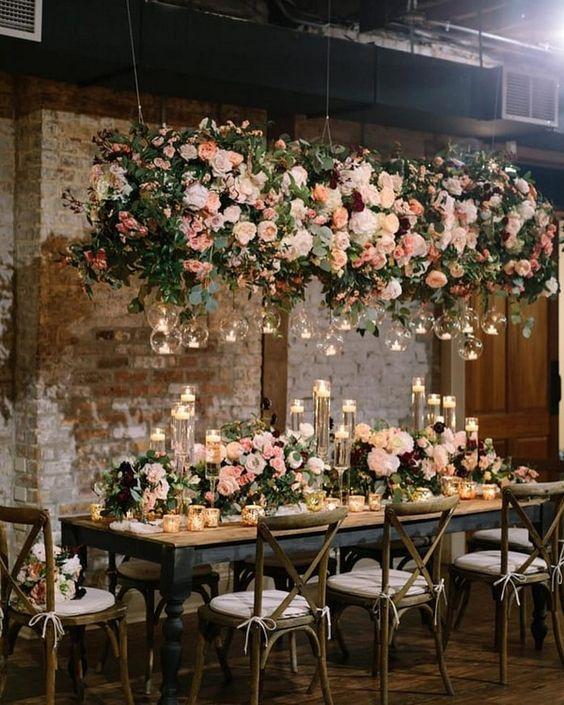 allestimento floreale del tavolo ricevimento matrimonio